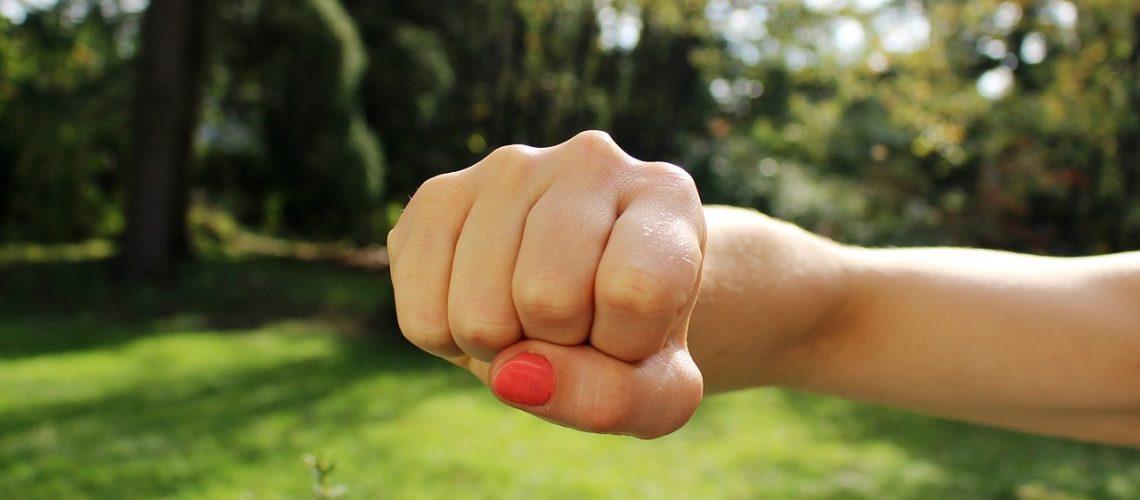 fist bump, anger, hand