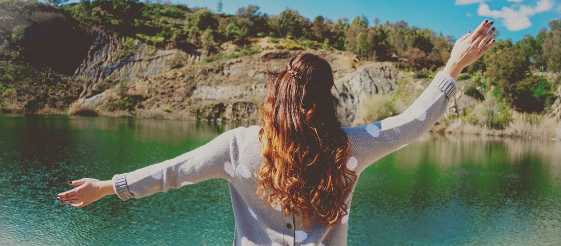 water, woman, nature